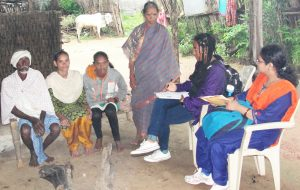 Interviewing parents of adolescents. Photo: ICRISAT