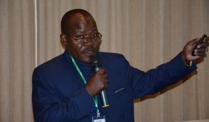 Dr Larwanou Mahamane, ICRISAT, speaks on making land restoration politically and economically feasible.