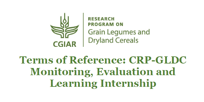 CRP-GLDC Monitoring, Evaluation and Learning Internship