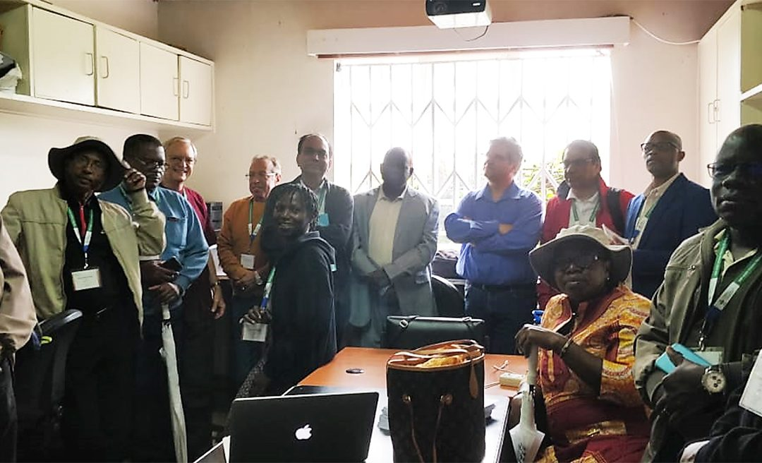 CRP-GLDC team and the partners visit the Plant Transformation Laboratory (PTL) at Kenyatta University, in Nairobi