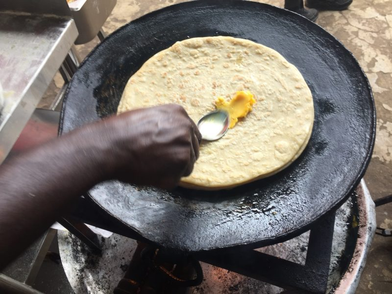 A chapati could get out of reach for people who fall short in income in response to their sudden inability to walk to work Photot: Michael Hauser