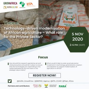 TAAT-Grow Africa webinar on the 5th of November 2020