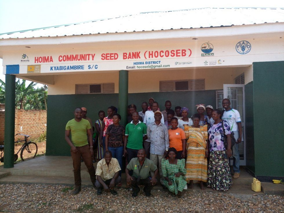 Some of the members of the Hoima community seed bank during seed and product value chain training in February 2021. Credit: T.Recha/Alliance of Bioversity and CIAT